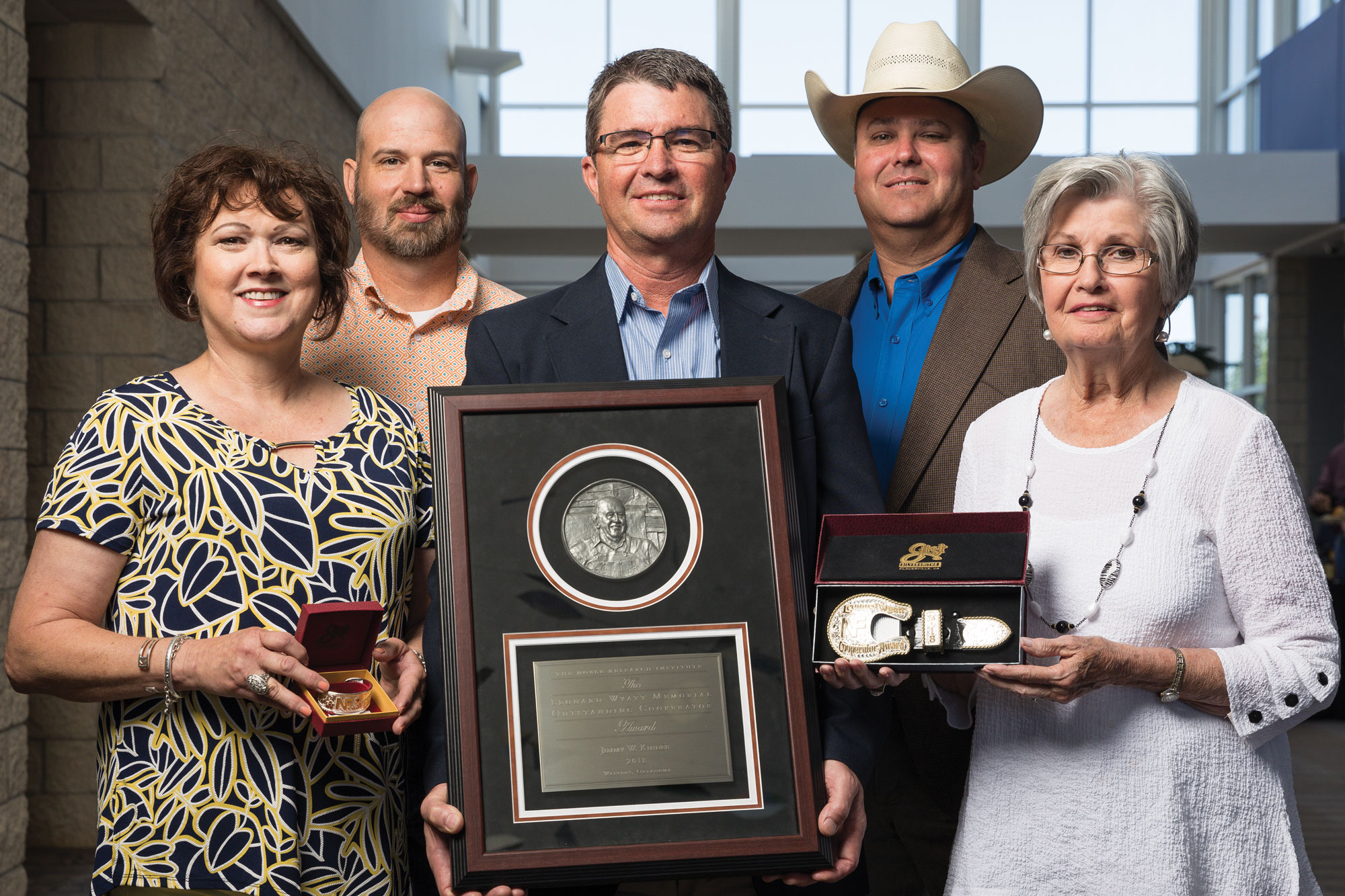 Jimmy Kinder receives the Leonard Wyatt Outstanding Cooperator Award.