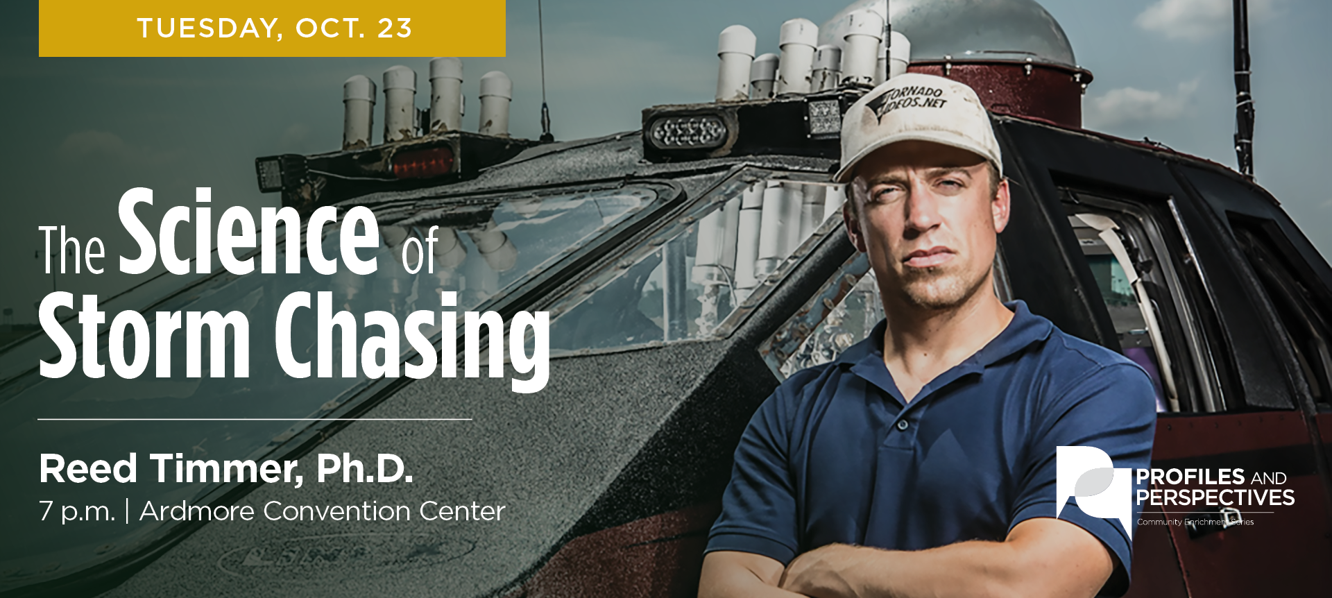 Famed Storm Chaser Set to Conclude 20th Anniversary of Profiles and Perspectives Series